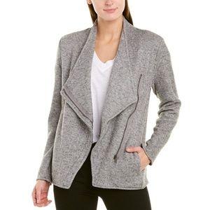 BB Dakota Jacket Asymmetrical Zip Up Gray Coat